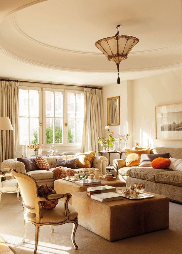Interiores cl sicos y elegantes un atardecer de texturas for Decoracion de interiores clasico elegante