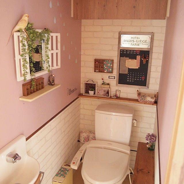 トイレをオシャレに ついつい自慢したくなる収納 Diy実例 トイレ おしゃれ トイレ 壁紙 おしゃれ インテリア