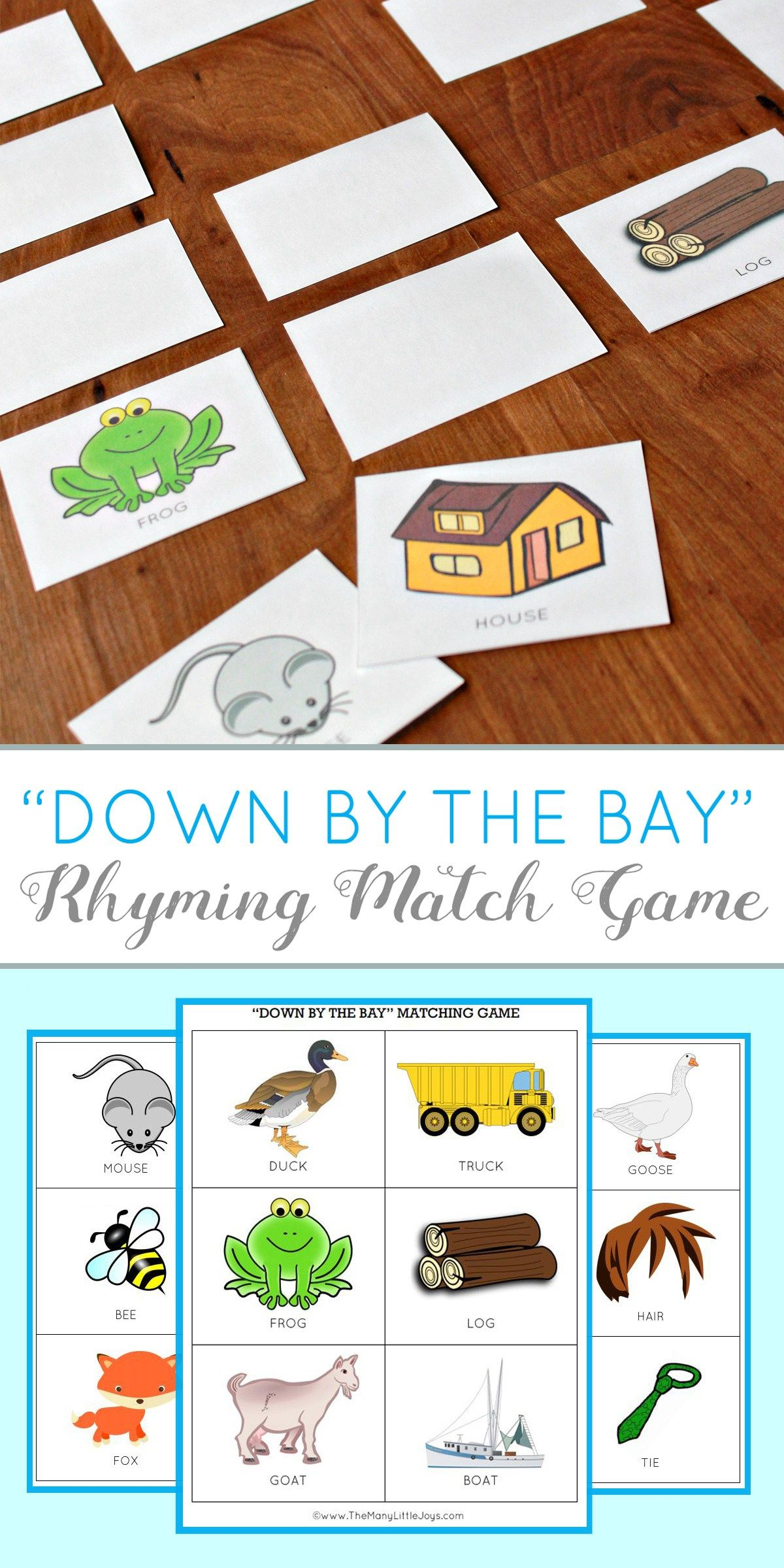 Rhyming Worksheet For Preschool