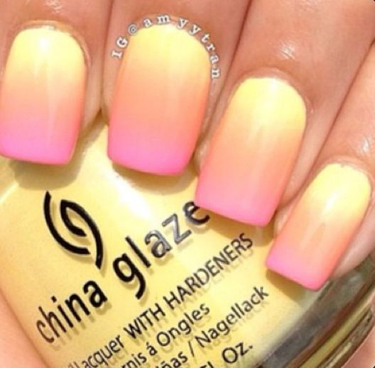 How To Do Ombre Nail Art At Home Nails Nail Art Ombre Trendy Nails