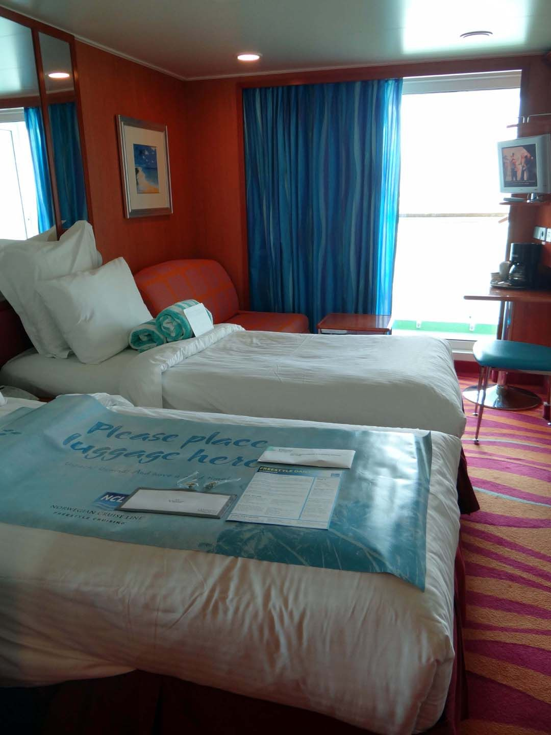 Balcony stateroom. I was surprised at how roomy it is