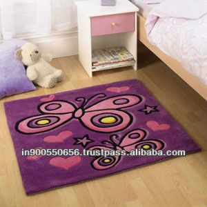For High Quality Rugs At Great Prices The Kiddy Play Erfly Childrens Rug Purple A Price And Get Free Fast Delivery