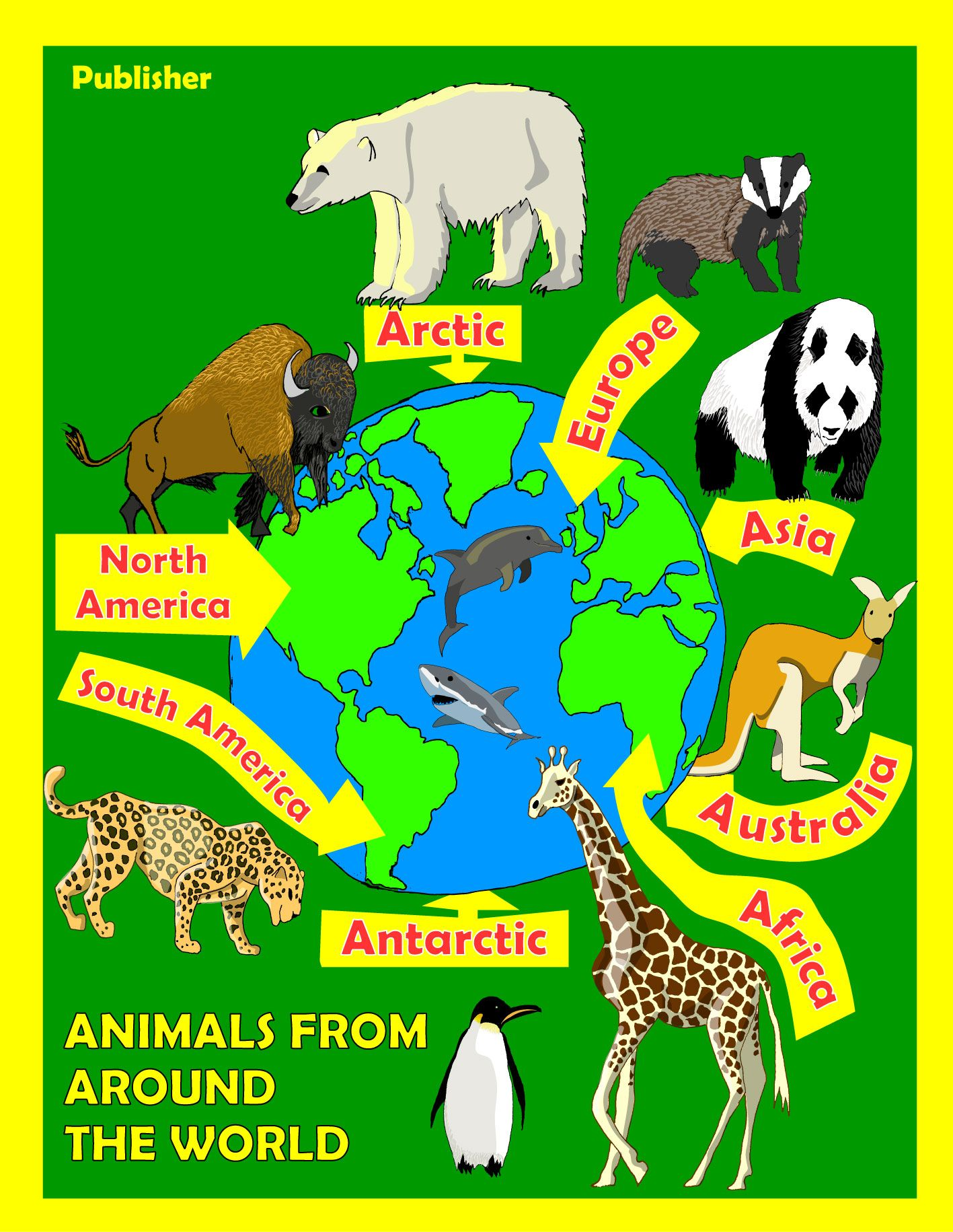 Protected Children's Book Cover Animals, Around the