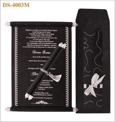 Indian Wedding Invitation Black Silver From Charu Www