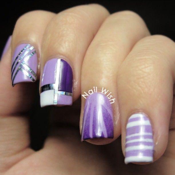 With Striping Tape Nail Art Ideas: Striping Tape Nail Art Ideas