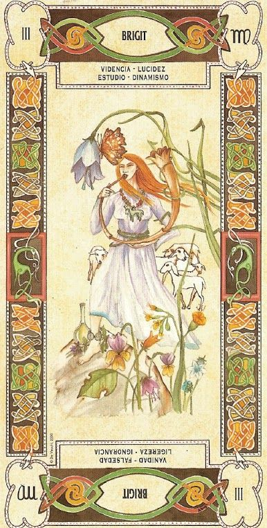 The Empress Brigit Celtic Tarot by Laura Tuan