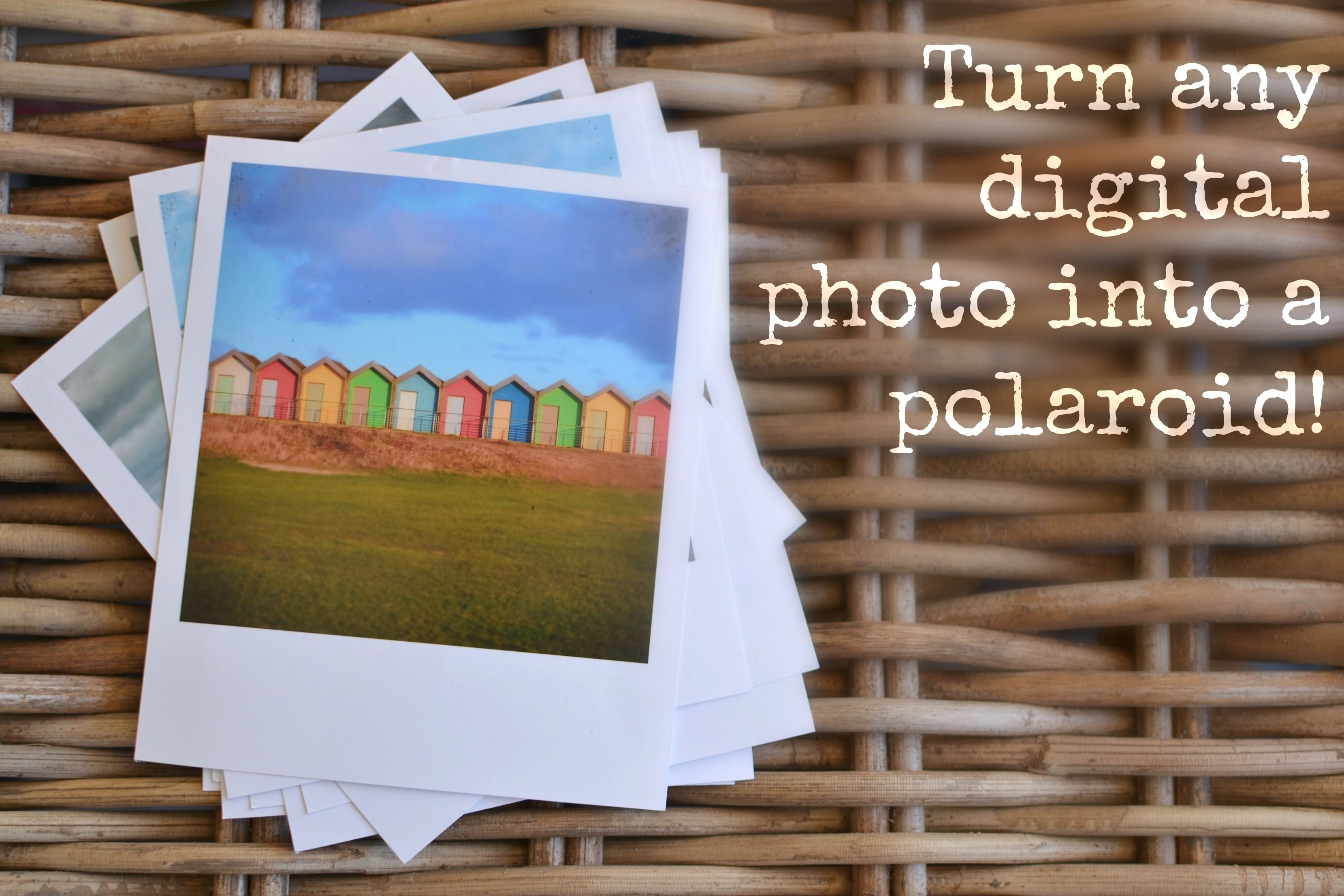 Print any photo as a polaroid free template