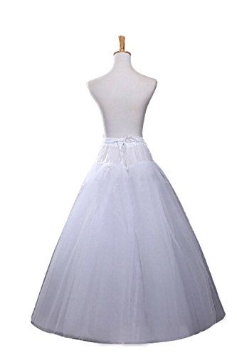 71746ac8b7 Ellames Womens Hoopless A Line Bridal Petticoat 4 Layers Wedding Crineoline  Slip     Check
