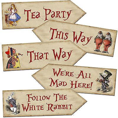 free printable alice in wonderland party decorations