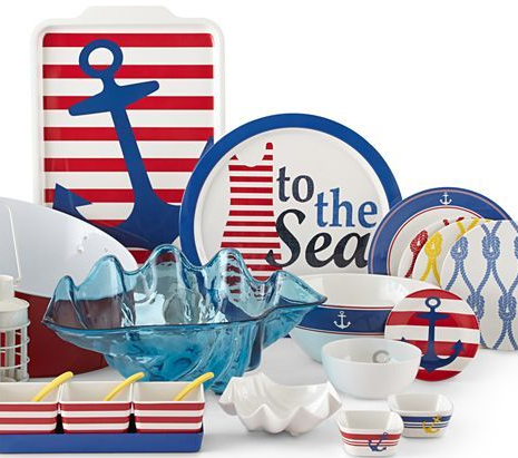 Nautical Dishes Dinnerware | Coastal u0026 Nautical Melamine Plates u0026 Dinnerware for Outdoor .  sc 1 st  Pinterest & Coastal u0026 Nautical Melamine Plates u0026 Dinnerware for Outdoor ...