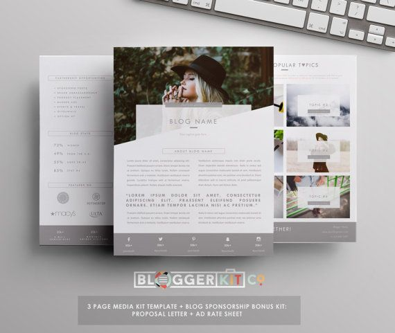 Pg Media Kit Template Press Kit Template By Bloggerkitco  Media