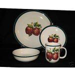 Apple Dish Sets Ebay Image 1 20 Pc China Pearl Apple Casuals