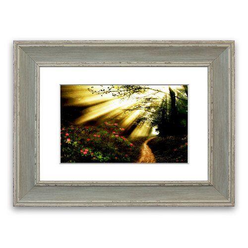 Photo of East Urban Home Mystical Garden Path 'Framed Photographic Print | Wayfair.de