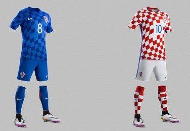 Croatia EURO 2016 Nike Home and Away Kits Home, away