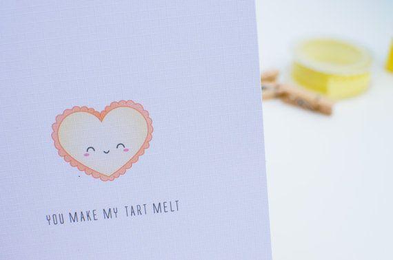 Anniversary Card Romance Egg Tart Card Lemon Tart Card Valentine/'s Day Card Sweet Tart Card Friendship Love
