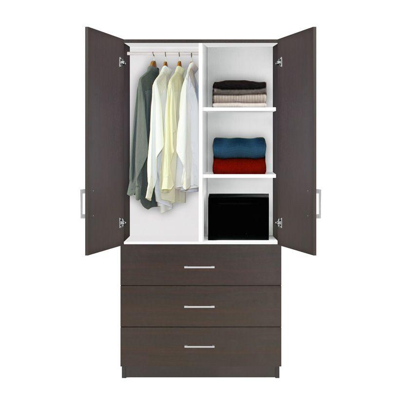 Alta Wardrobe Armoire 3 Drawer Shelves Hangrod