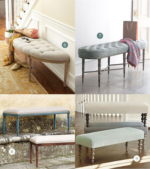 15 of the Best Upholstered Benches | Bancos, Banquetas y Ideas de ...