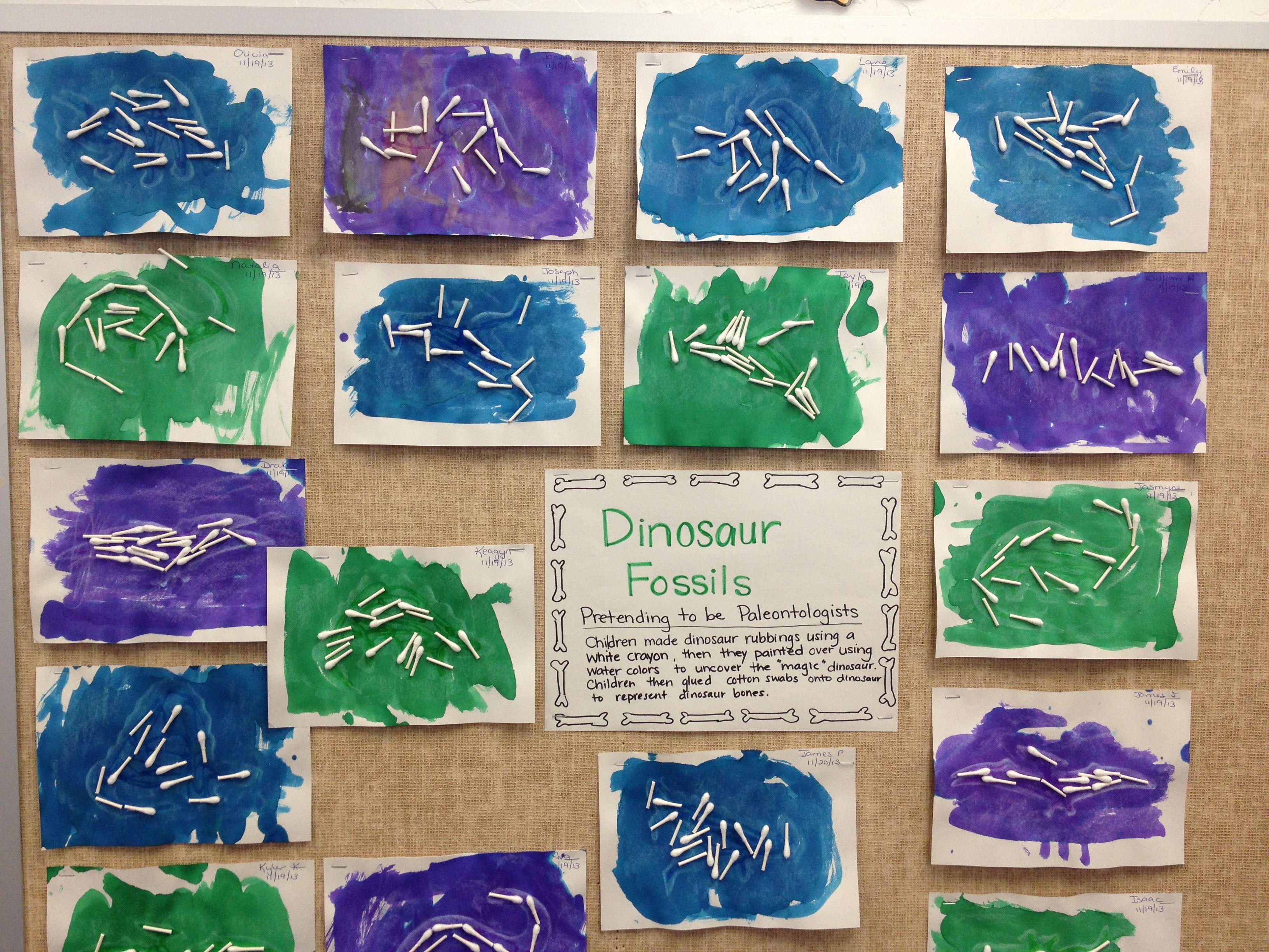 Dinosaur Fossil Craft Preschool