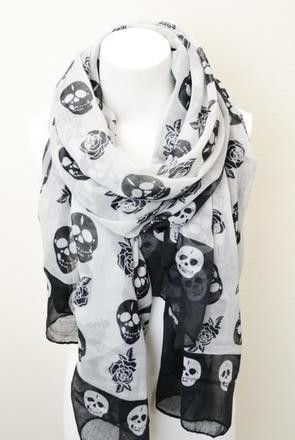 Skull N' Rose Scarf-seen similar ones and actually, kind of like it.