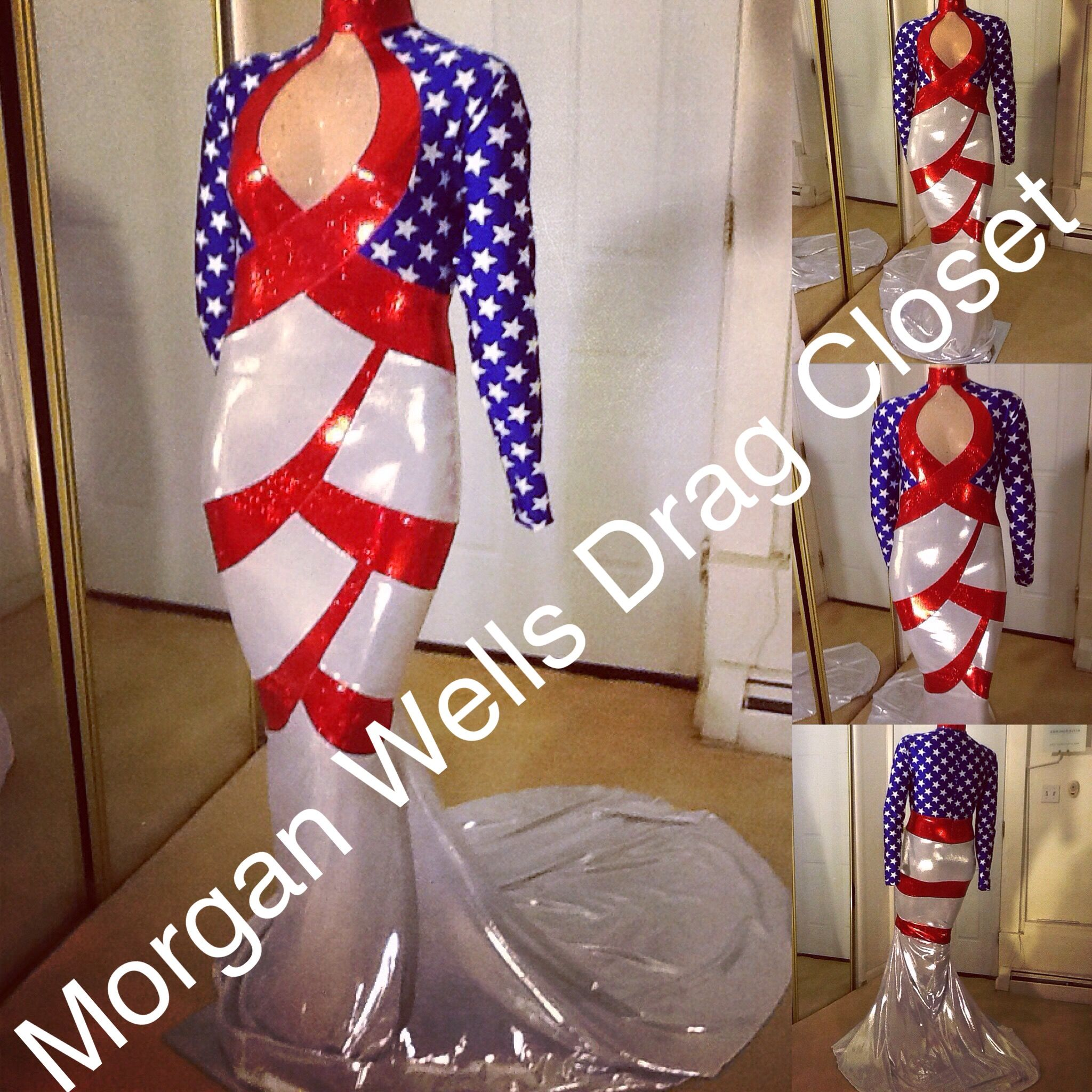 a4f68de0 Drag Queen Outfits, Queen Dress, Patriotic Dresses, American Flag Dress,  Gold Sequins