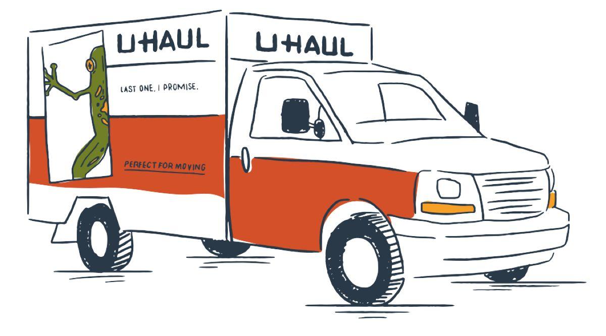 Cartoon U Haul Truck
