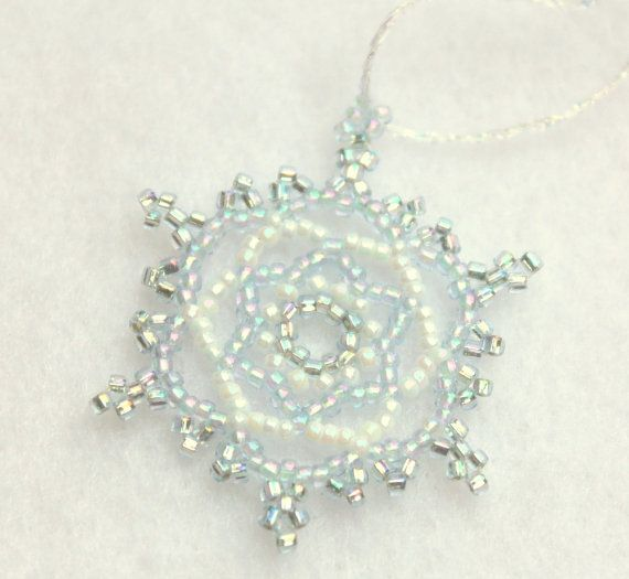 Blue Snowflake Winter Wedding Decoration or favor by TheCrystalSnowflake on Etsy