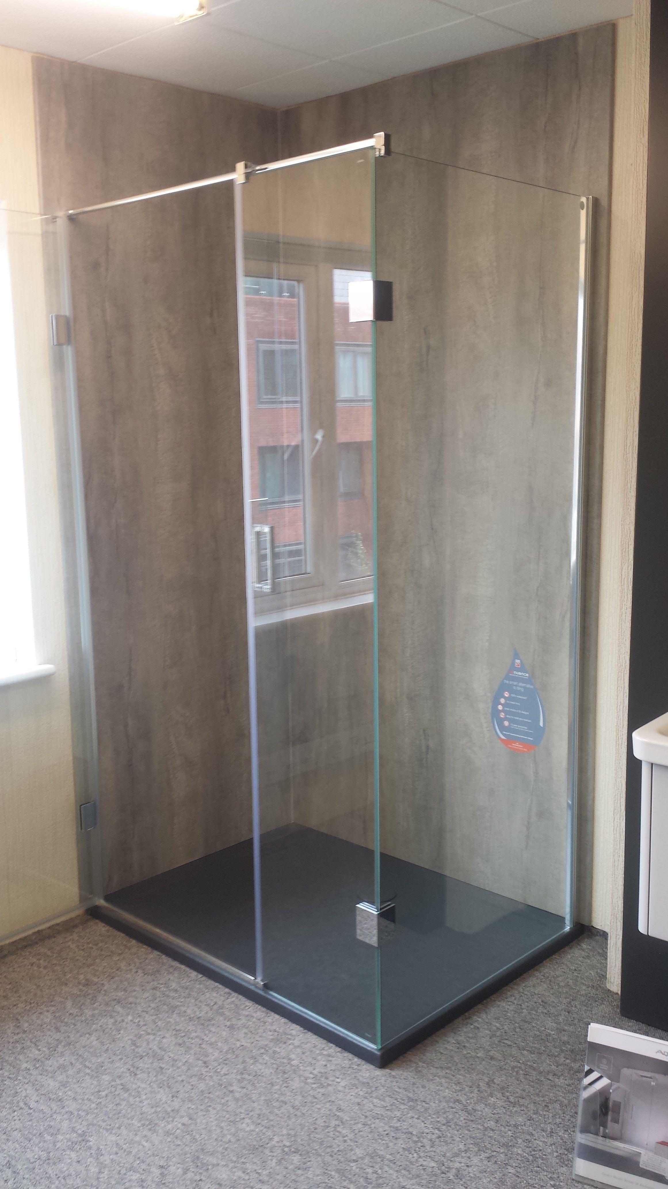 Epsom Bathroom Centre Displaying Our Nuance Range #Bushboardideas #Bathroomideas #Bathroom