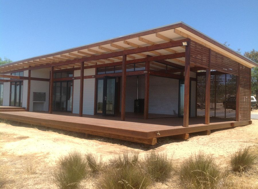 low pitch roofs beach house Google Search Timber house