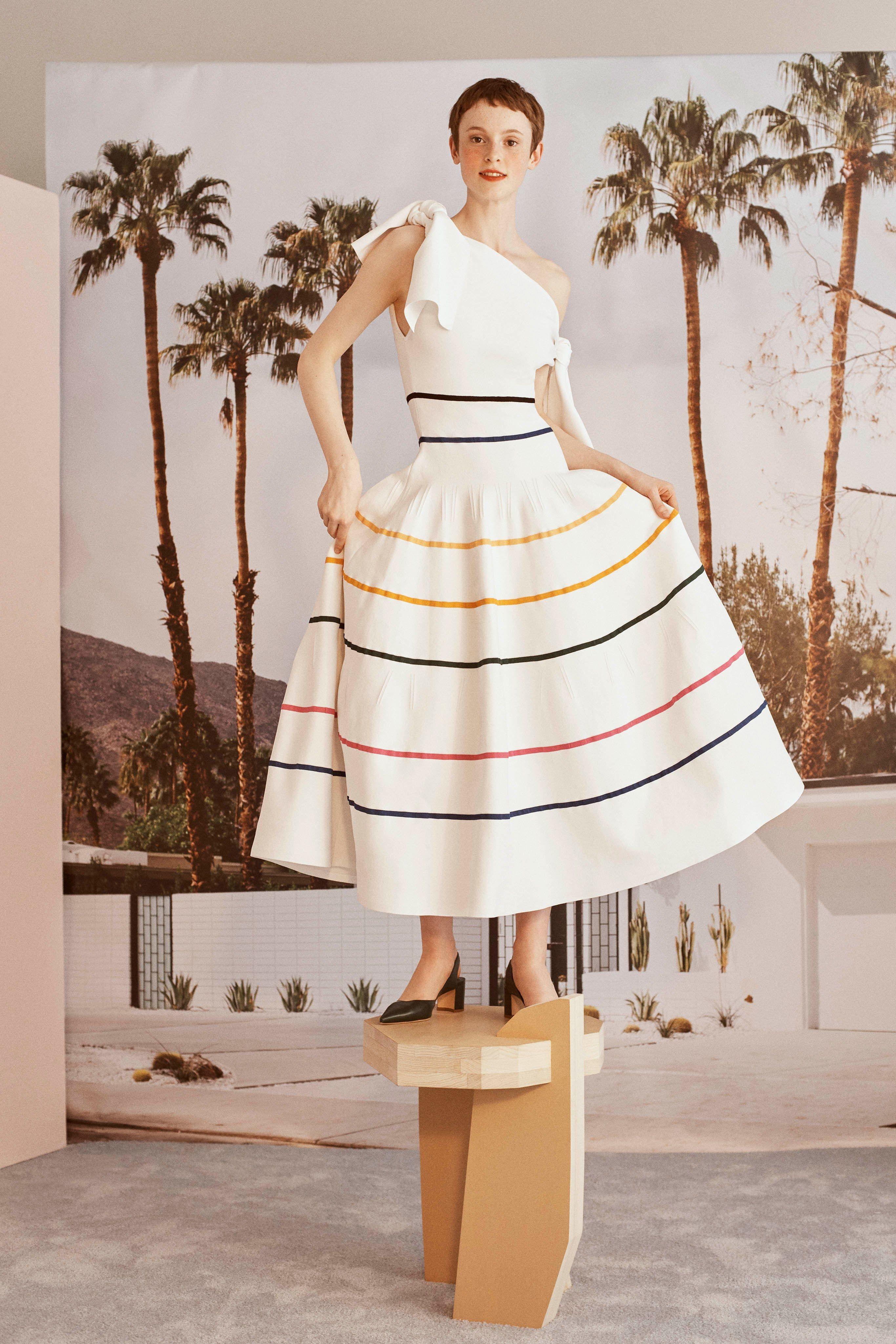 9d24726aecc4c #CarolinaHerrera #Resort 2019 New York Collection - #Vogue #stripes #dress  #style