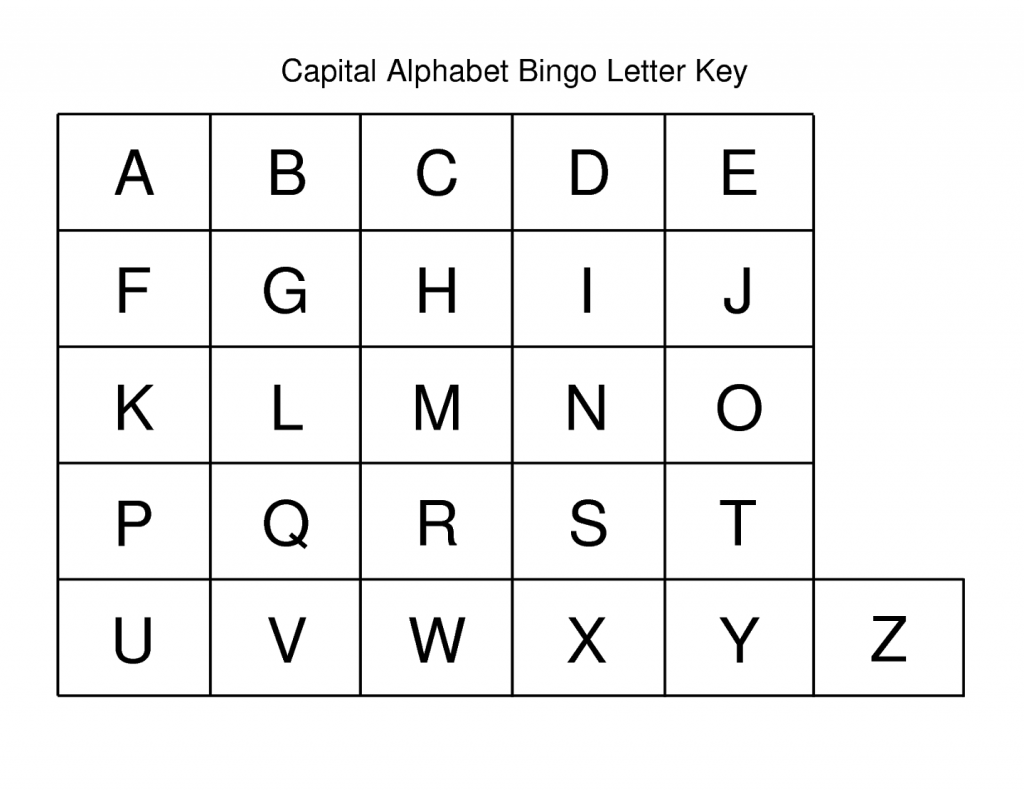 Capital Letters Alphabet For Kids In