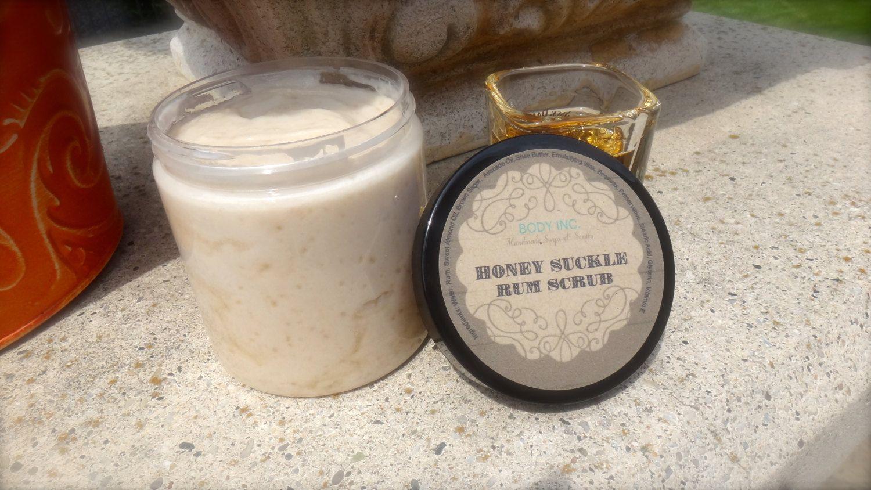 Honey Suckle Rum Scrub Bath Exfoliant Sugar Milk