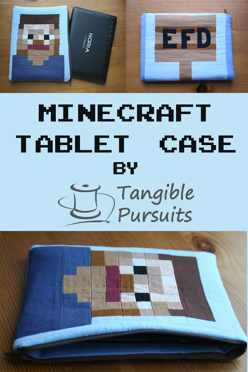 Minecraft Tablet Case Tablet case, Crafts hacks, Easy