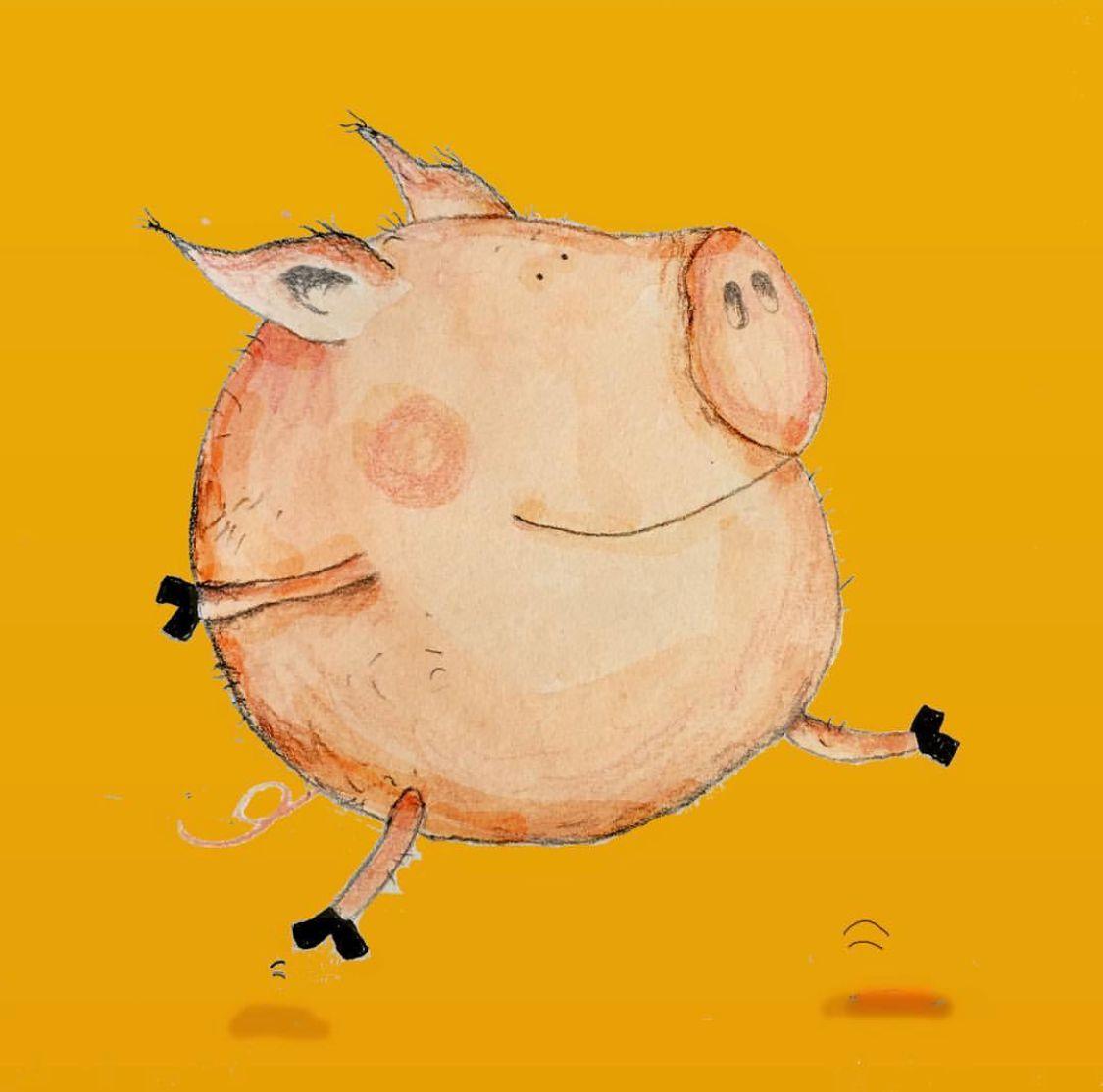 Pin od Eliza na inspiracje Pinterest Pig art Art i Flying pig