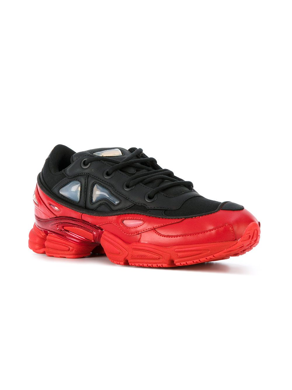 Adidas By Raf Simons Black Red Ozweego III Trainers | Get