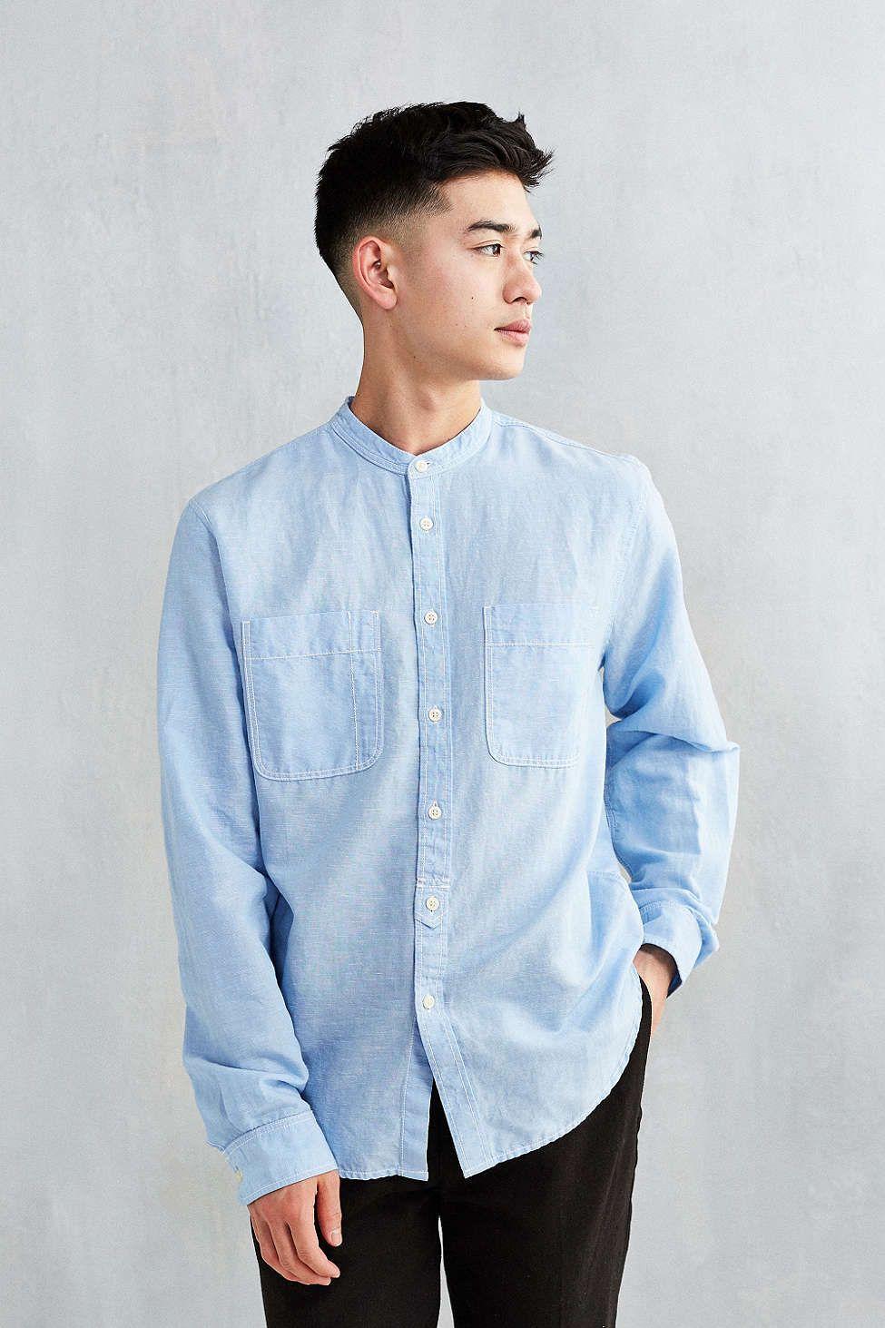 Cpo Banded Collar Two Pocket Shirt Gaya Model Pakaian Pria Gaya Rambut Pria Potongan Rambut Pria