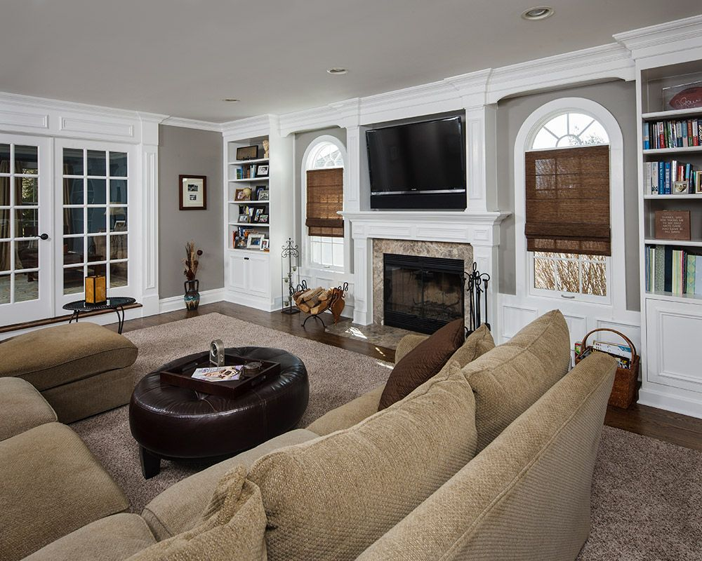 Family room and great rooms living room pinterest room additions family room and living for Pictures of living room additions