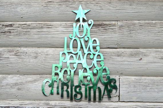 Plasma Cut Christmas Tree Wall Art By BittsofSteel On Etsy