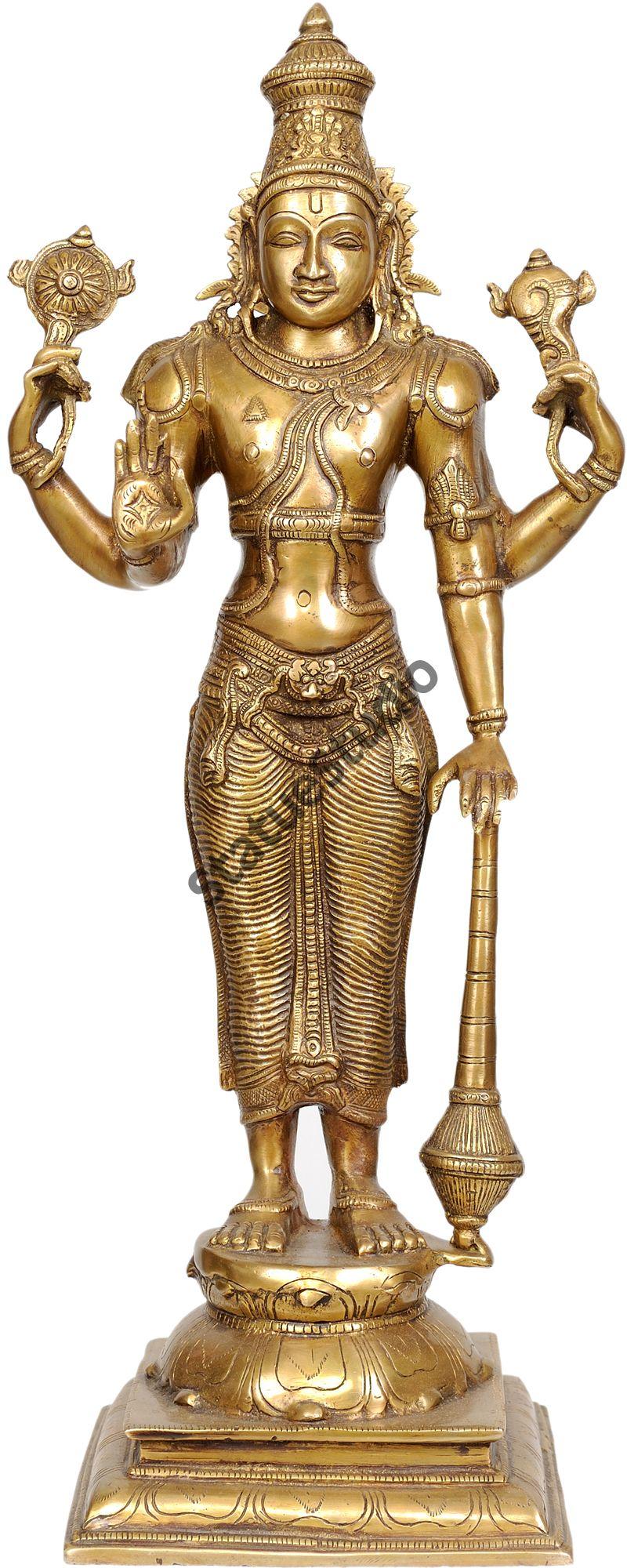 Brass Metal Vishnu Statue