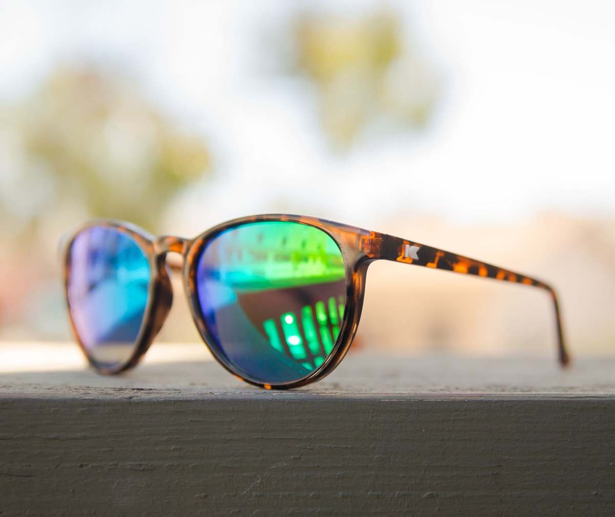 c65deb3d18 New colorway—Glossy tortoise shell   green moonshine Mai Tais with embedded  white K logos available for only  20 (polarized option for  25).