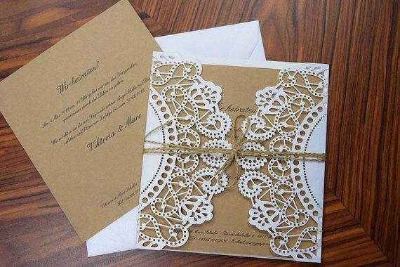 Hochzeitseinladung - Vintage-weissgold- Dalia-vintage