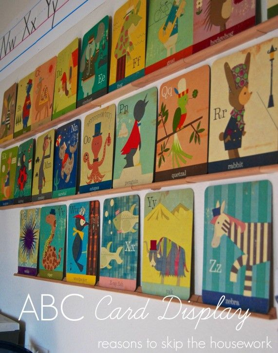 ABC Card Wall Display - Reasons To Skip The Housework