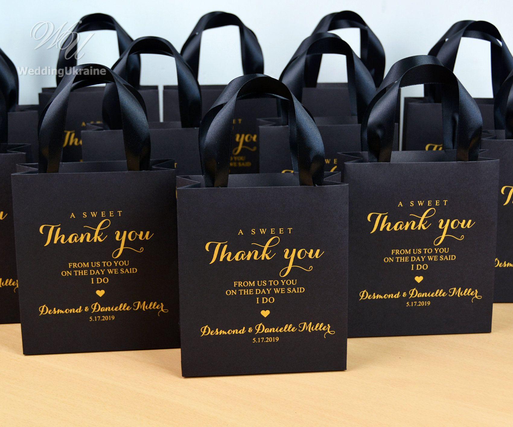 Personalized Gold Favor Bag Gold Wedding Favor Bag Guest wedding bag Bridesmaid gift bachelorette gift custom favor bag Natural with Gold
