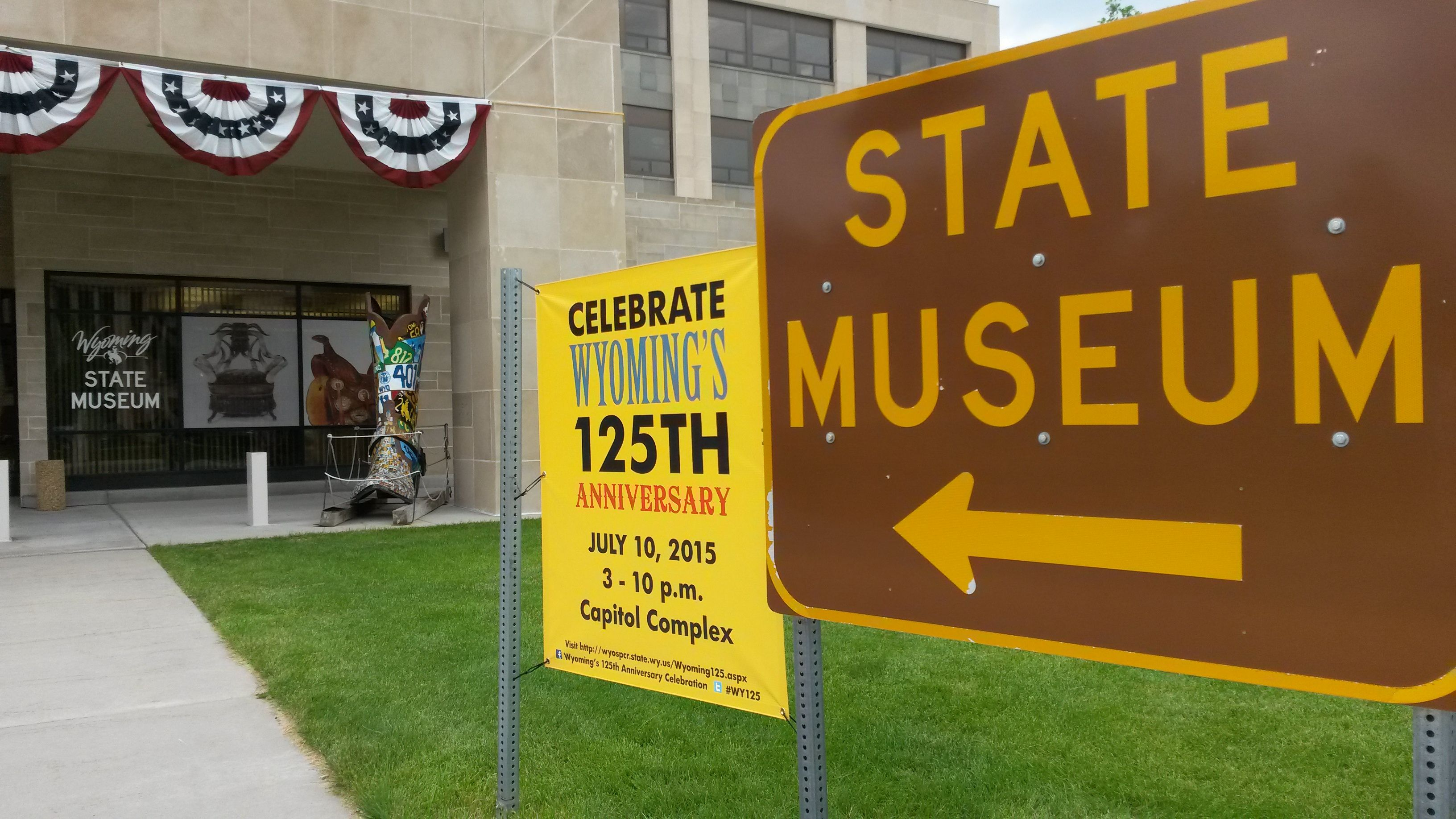 Come see us tomorrow during Wyoming's 125th Anniversary Celebration on July 10th! We have lots going on: 11 Wyoming authors signing books, our 125 Years of Statehood Exhibit, behind the scenes tours of the collections area, Hands on Wyoming History activities!