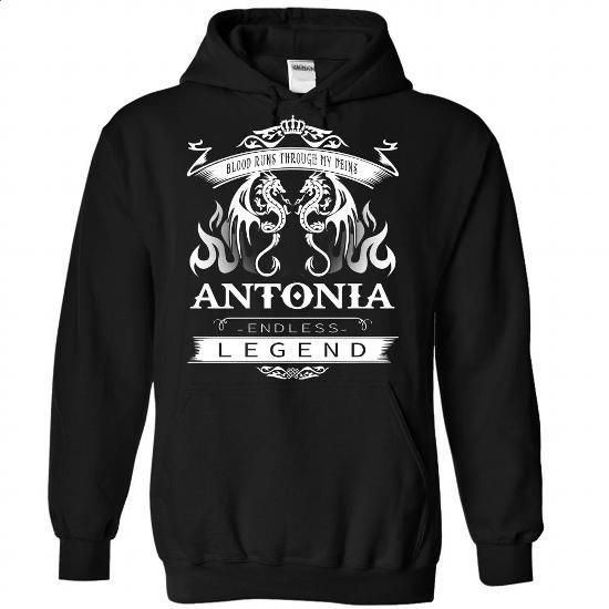[bestfriend gift,shirt for women] ANTONIA an endless legend - #handmade gift. LIMITED TIME PRICE => https://www.sunfrog.com/Names/ANTONIA-Black-77340868-Hoodie.html?id=68278