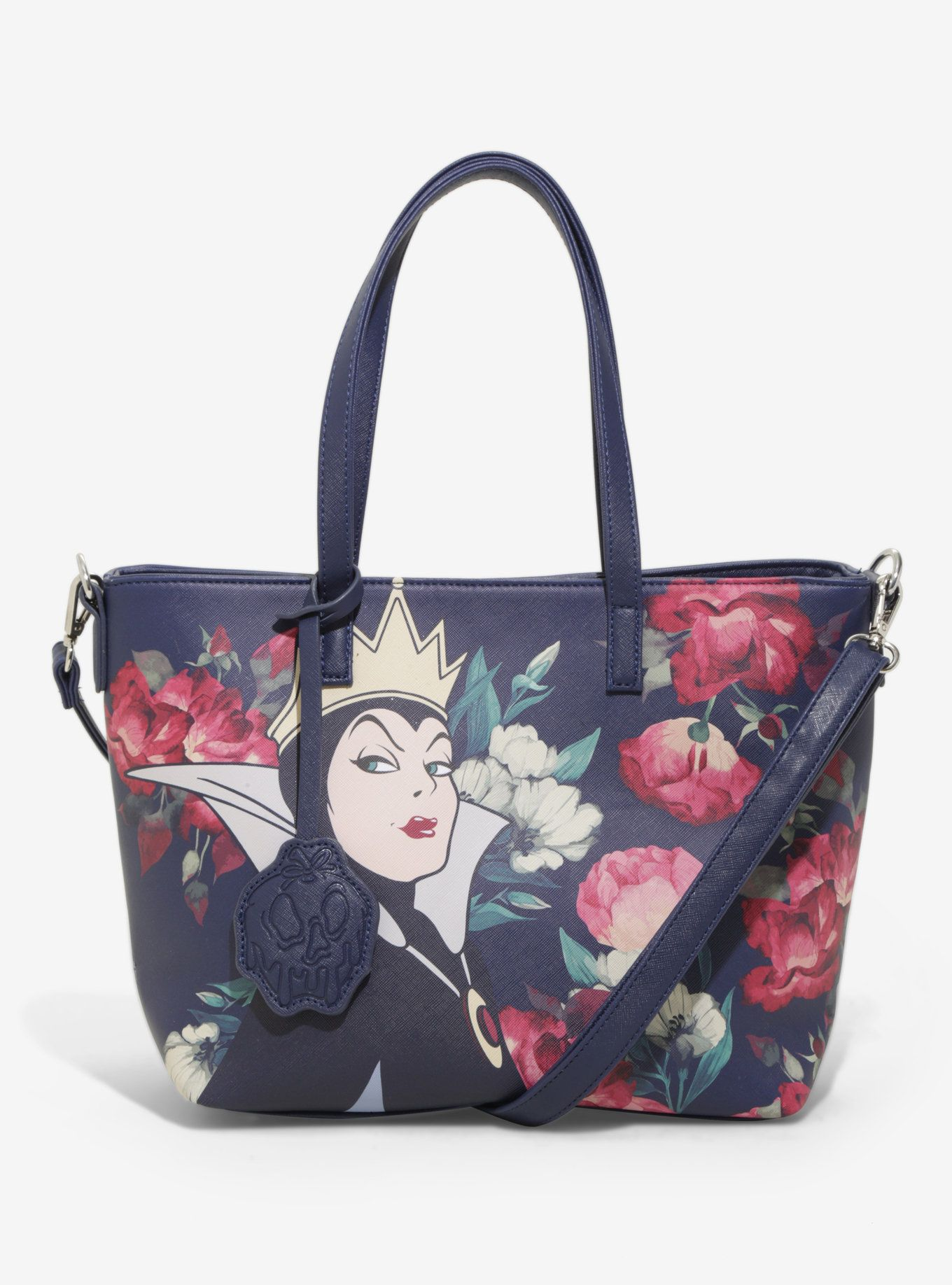 Loungefly Disney Snow White Evil Queen Fl Tote Boxlunch Exclusive