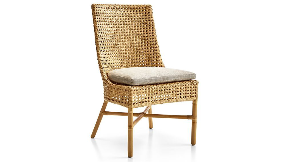 Maluku Natural Rattan Dining Side Chair And Cushion Side Chairs