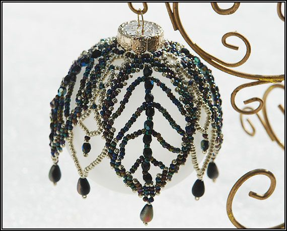 EVERYTHING FROM BEADS: Beaded Christmas Ornament Cover