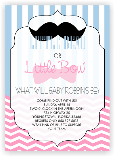 What Will Baby Be Gender Reveal Baby Shower Invitation