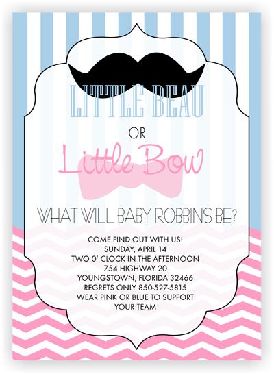 baby gender reveal invitations