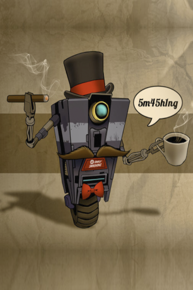Made an iPhone 4/4s Claptrap wallpaper for you guys. Enjoy